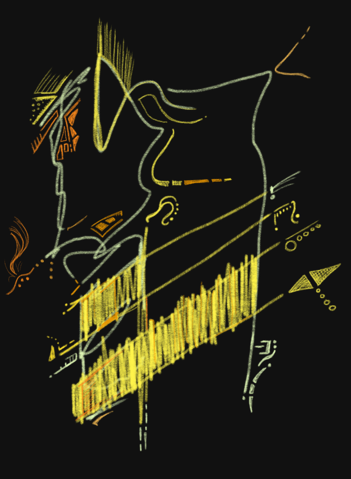 Abstract Dress Horse