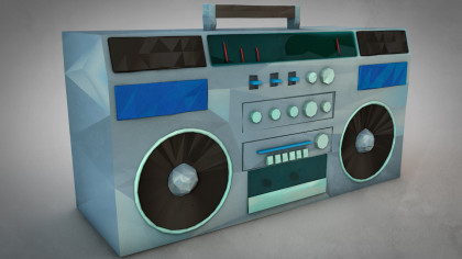 Lowpoly BoomBox